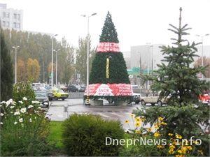 В городе уже появились новогодние елки