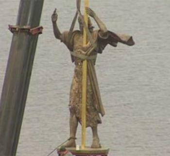В Днепропетровске установили самую большую статую Иоанна Крестителя