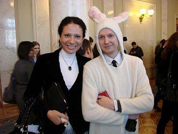 Журналист шокировал Верховную Раду, одевшись зайцем
