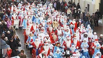 В Киеве пройдет парад Дедов Морозов