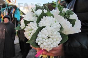 На улицах Днепропетровска уже торгуют первыми подснежниками