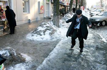 Февраль в Днепропетровске: меньше гриппа, больше переломов