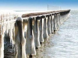 Впервые за последние 30 лет замерзло Черное море