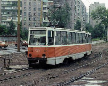В Днепропетровске провели ритуальное прощание со старыми трамваями