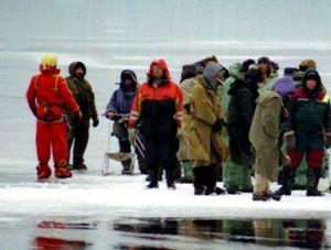 13 рыбаков сняли с льдины в Днепропетровской области