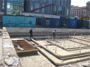 Днепропетровск остался без фонтана около ЦУМа