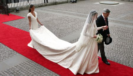 Свадебный наряд будущей королевы Англии