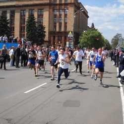 В Днепропетровске прошла эстафета Победы