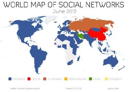 Названы самые популярные соцсети в мире