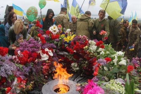 В Днепропетровске празднование Дня Победы прошло мирно
