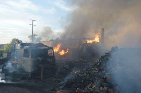 На Левом берегу в Днепропетровске горело предприятие