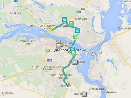 Пригородные маршруты Днепропетровска можно отследить в реальном времени в Интернет