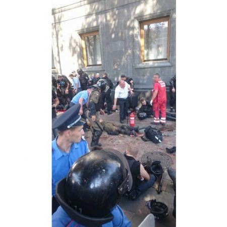 Под Верховной Радой взорвали гранату (Фото, Видео)