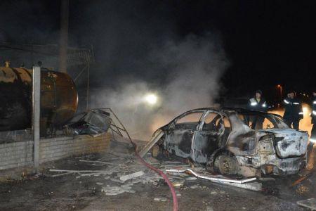 В Днепропетровске cгорела автозаправка