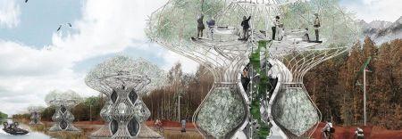 Дома будущего: здания напечатанные на 3d-принтере из биоразлагаемого пластика, будут сами производить еду для жителей