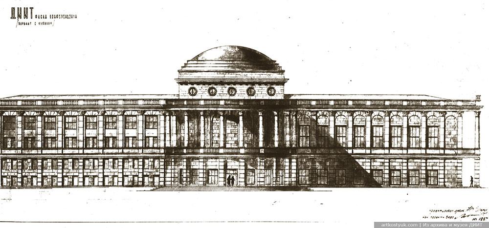 Проект пристройки к главному корпусу с реконструкцией фасада библиотеки