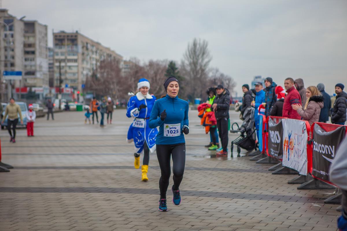 Марина Филатова тоже участвовала в забеге