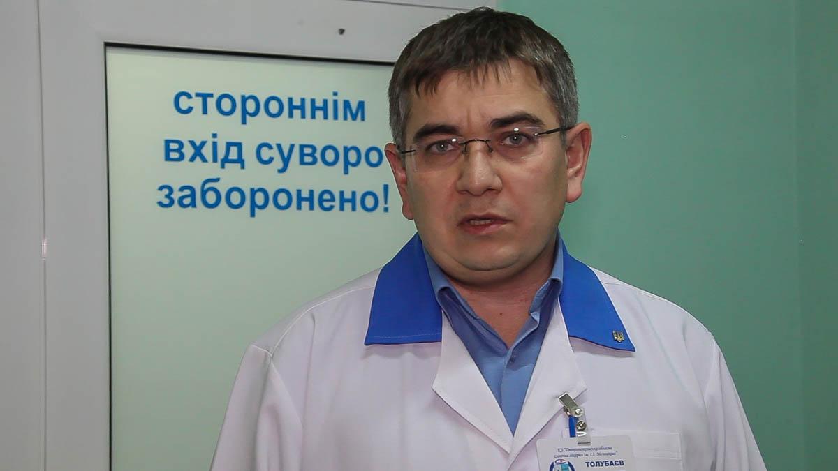 Заместитель главного врача областной больницы им. Мечникова Александр Толубаев