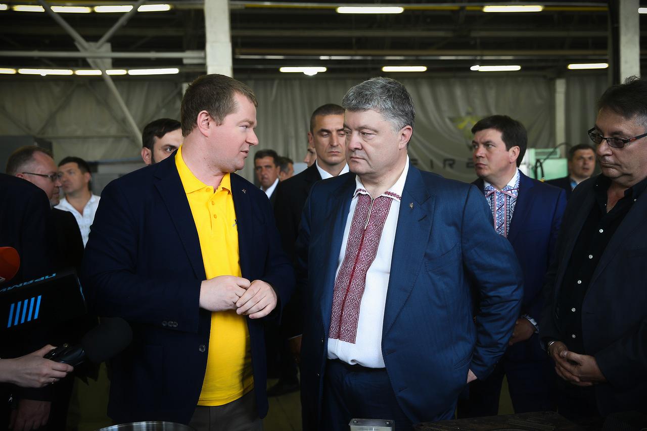Максим Поляков и Президент Украины Петр Порошенко
