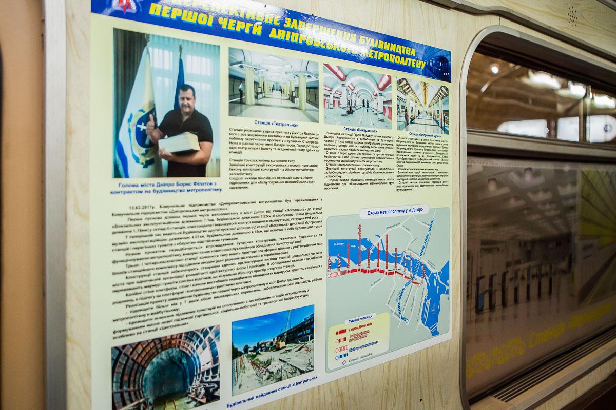 На них подробно описана история метро в нашем городе