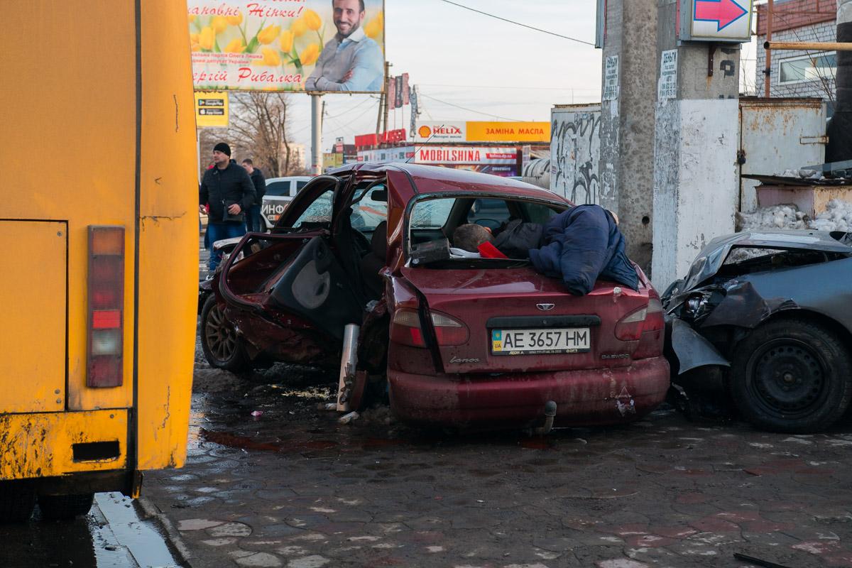 Водитель Daewoo погиб на месте происшествия