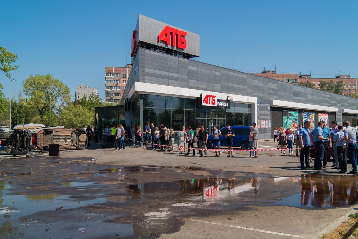 Инцидент произошел возле супермаркета АТБ