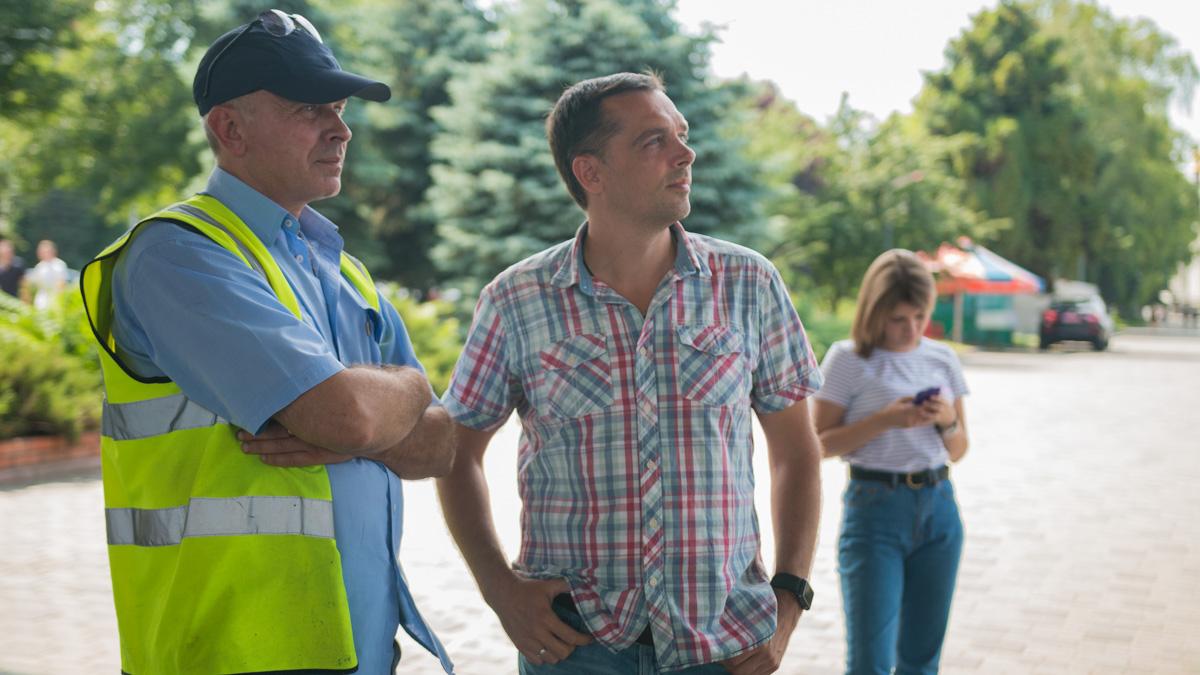 Олег Антонов, главный инженер и Александр Цирульников, директор КП Днеправтомост